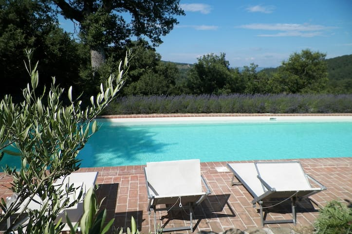 Huge Saline+Heated Pool, Amazing Views, FANTASTIC - Citta di Castello - Villa