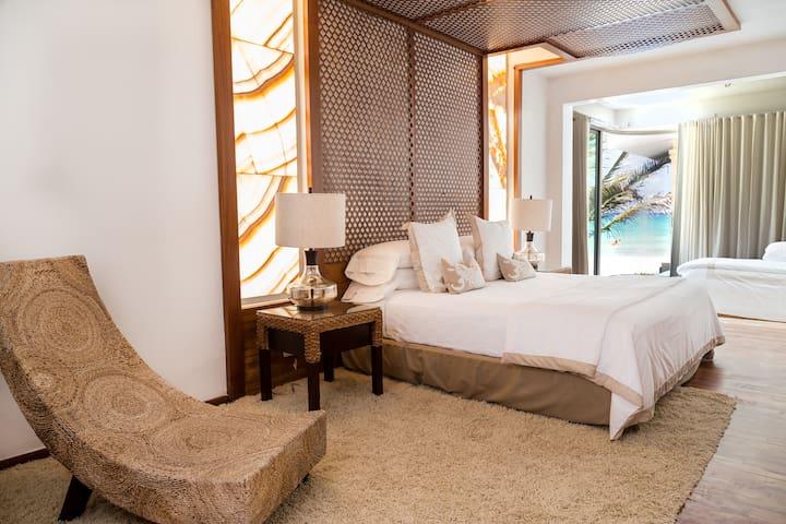 BEDROOM #1KING SIDE BED   OCEAN VIEW