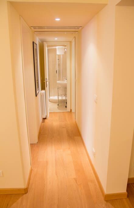 Corridor to the sleeping area