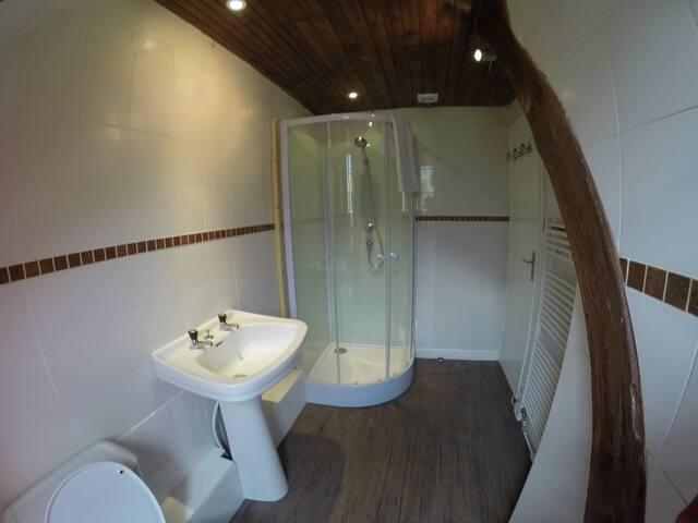 Spacious en suite shower room
