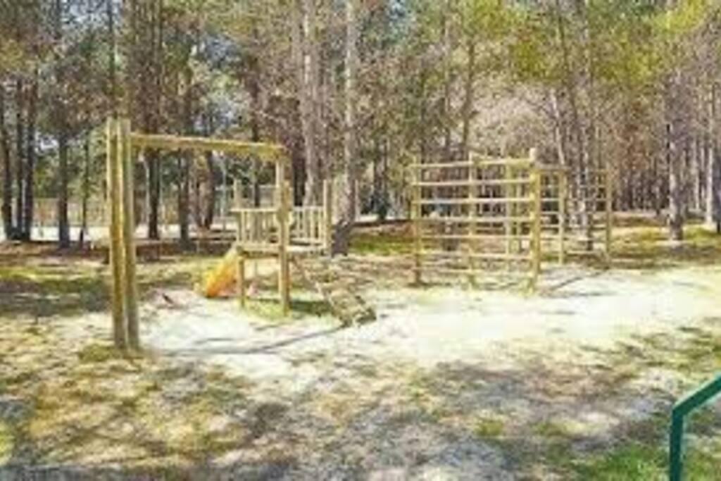 Bosque y juegos para niños