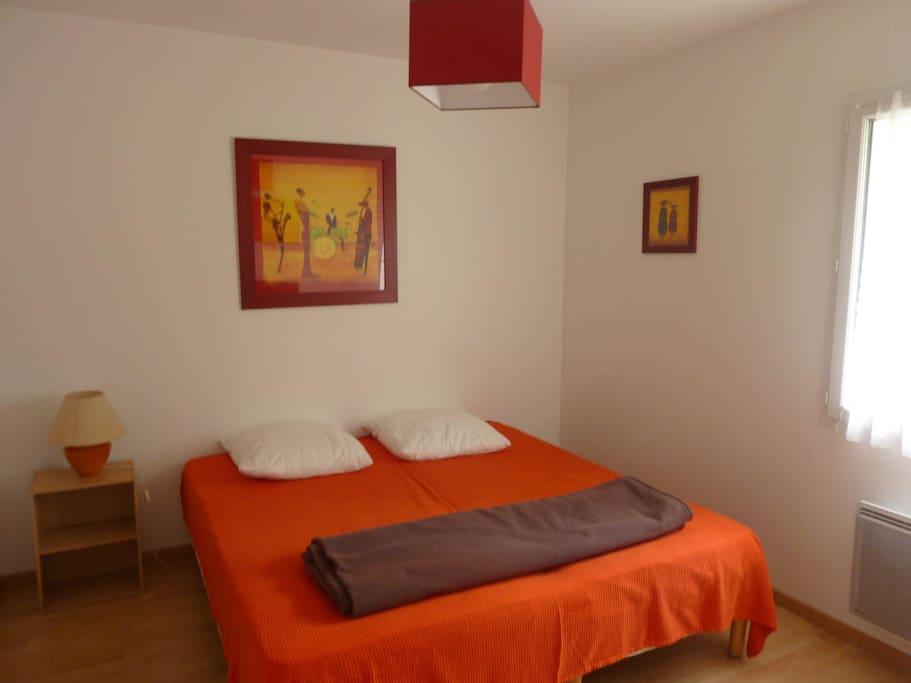 Chambre 1, possibilité d'avoir un lit double ou deux lits simples