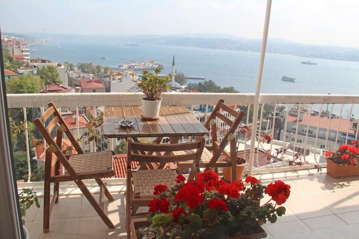Room in duplex in Istanbul city center (seaview)