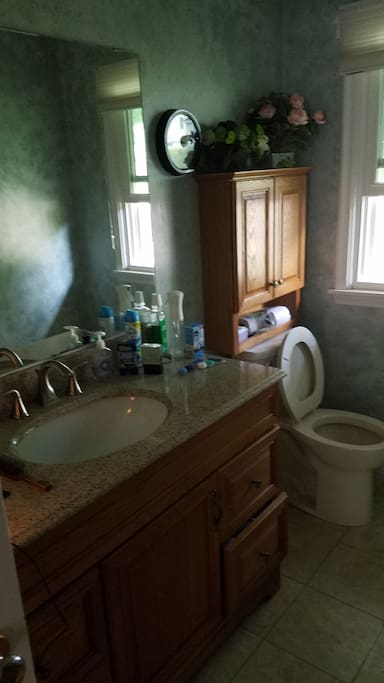 Your bathroom - has been painted tan since this photo