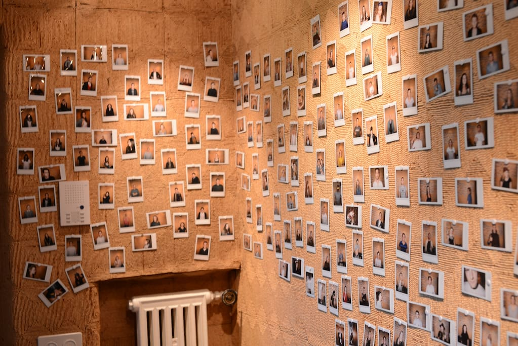 Famous polaroid wall with all our guests. Join it!