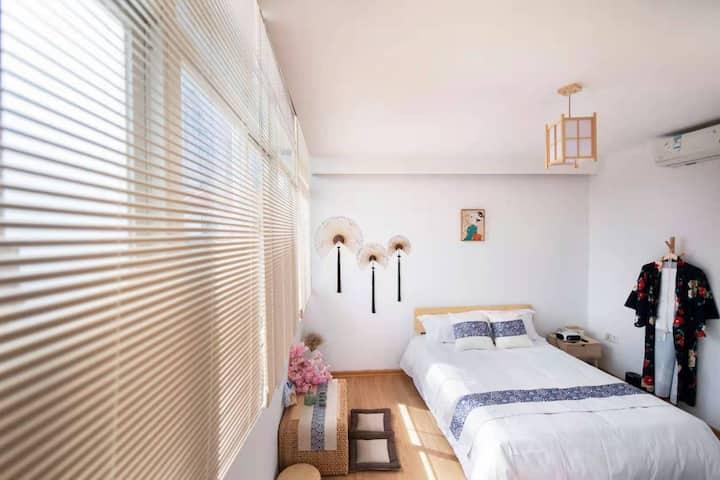 全日式和服大床观影房,室内打卡地,十哩空间民宿