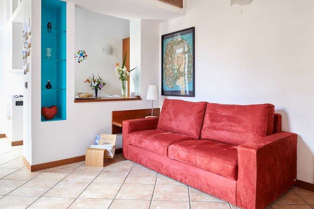 Quarenghi Home, the living room.