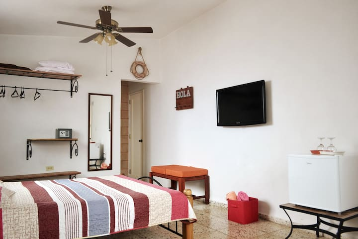 """Room #1 (Suite Humedal). 40"""" TV, 8 local channels."""
