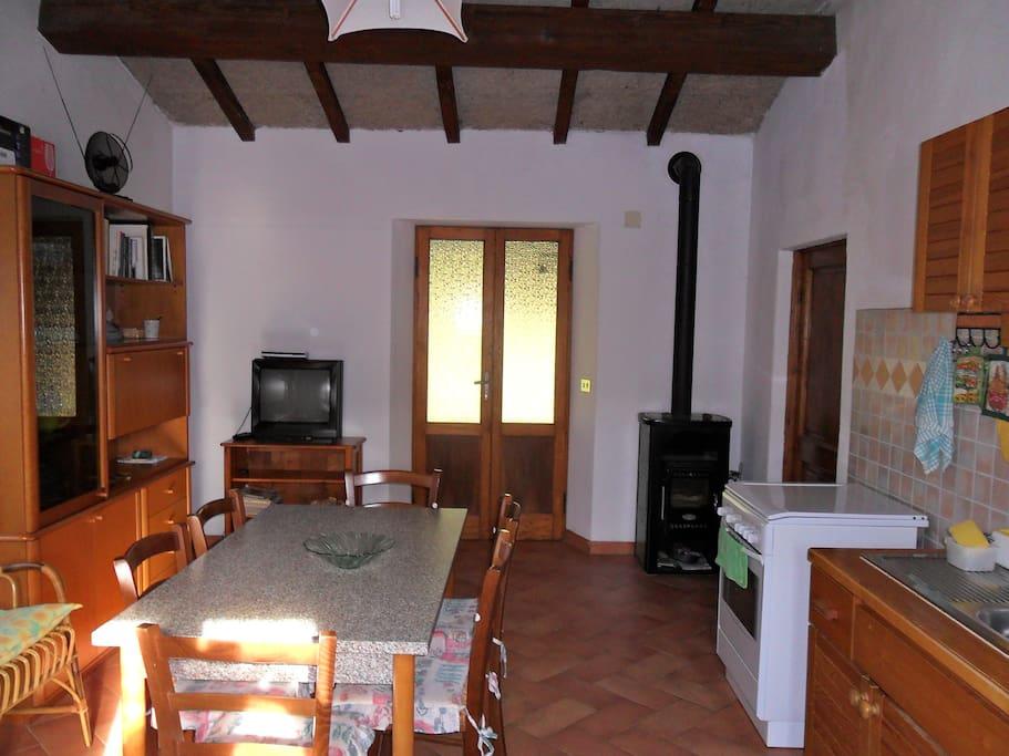 Soggiorno/cucina Living room/kitchen