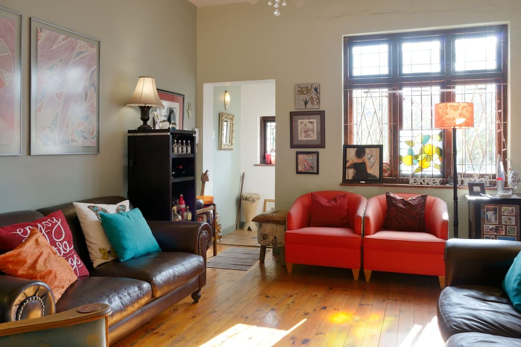 Colourful, comfortable furnishings and decor