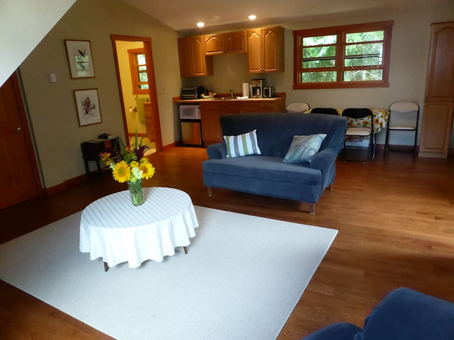 Spacious Livingroom, Kitchen and Dining Area