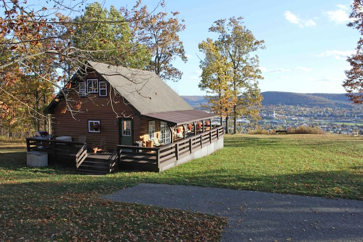 Best views of Corning, NY in a cabin paradise!