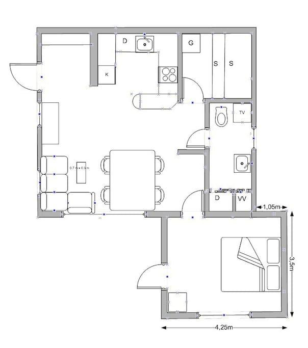 Cottage layout