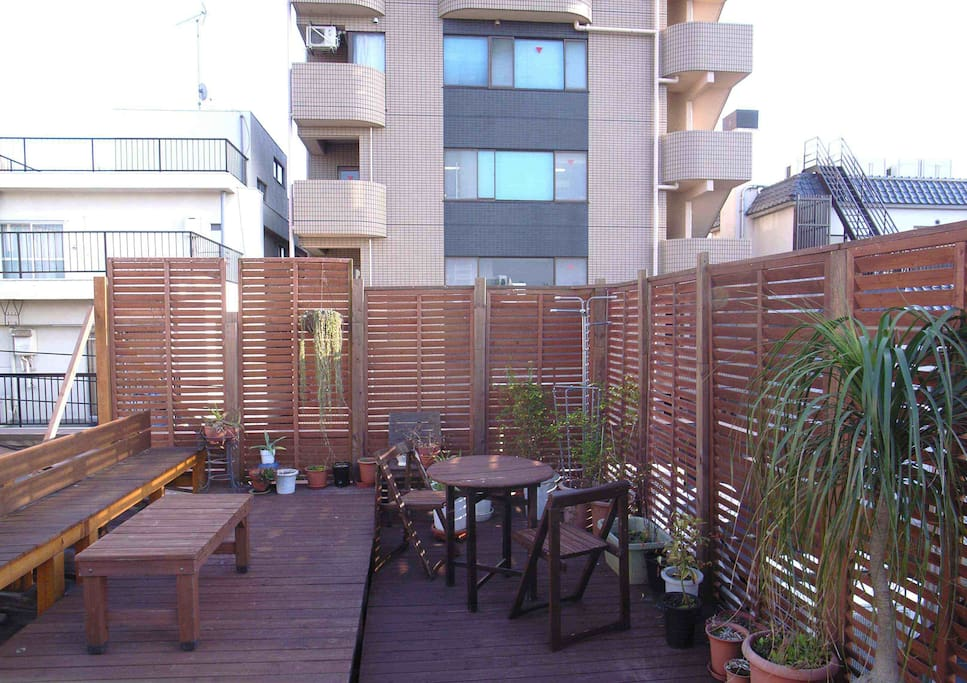 Our wooden deck on the roof top!