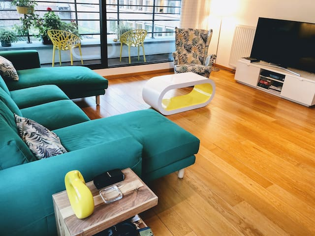 Living room space with smart TV 60'
