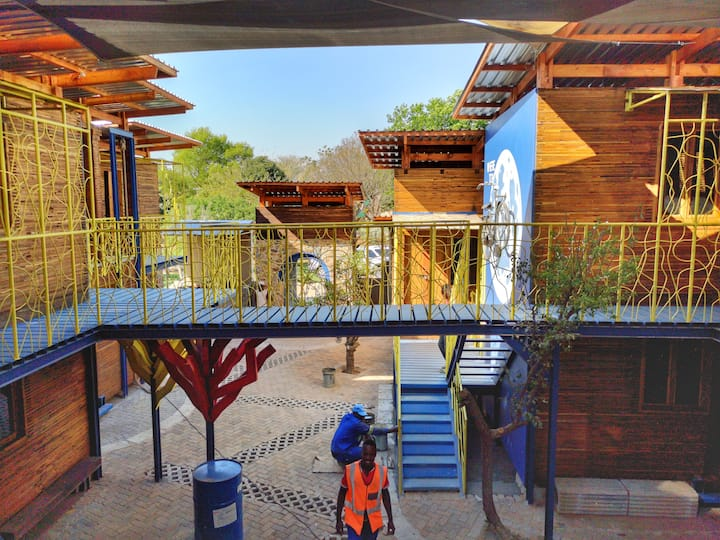 Afro-Chic Industrial Campsite situated in Sandton