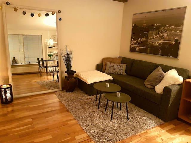 Cozy private apartment in a big house close to RVK - Hafnarfjörður - Casa