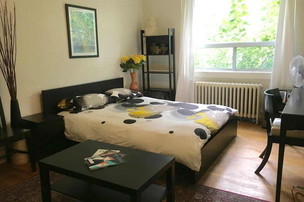 Very comfortable double bed.