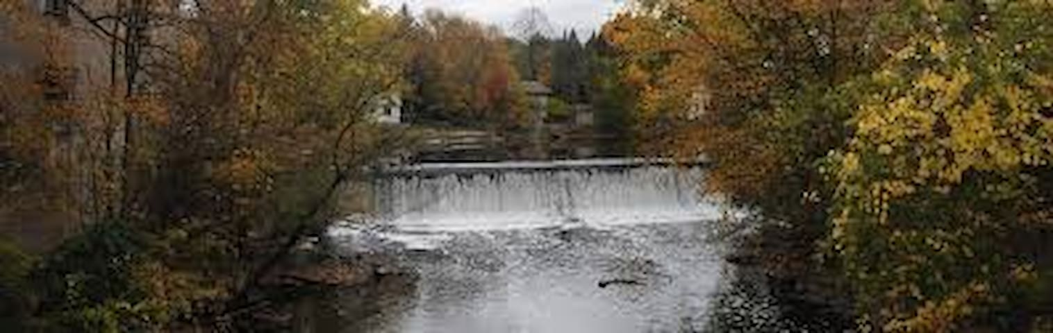 Beautiful Cedar Creek in the fall