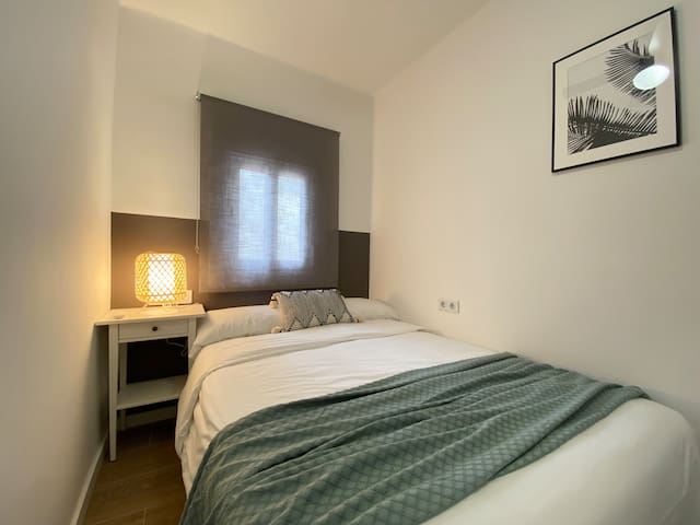 Bedroom Two (Sleeps 2) -  A comfy double bedroom with black out blinds, plenty of storage, bedside lighting and quality bed and bedding enables a restful nights sleep.