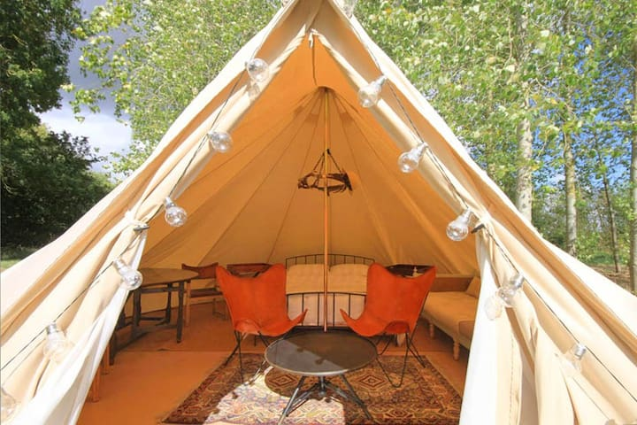 Safari -Themed Lakeside Glamping on a Farm