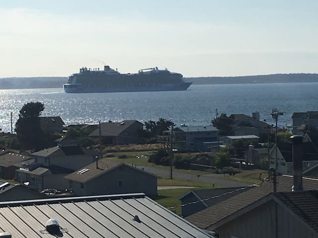 WATCH THE SHIPS CRUISE BY AT BUSH POINTE SUNSETS!