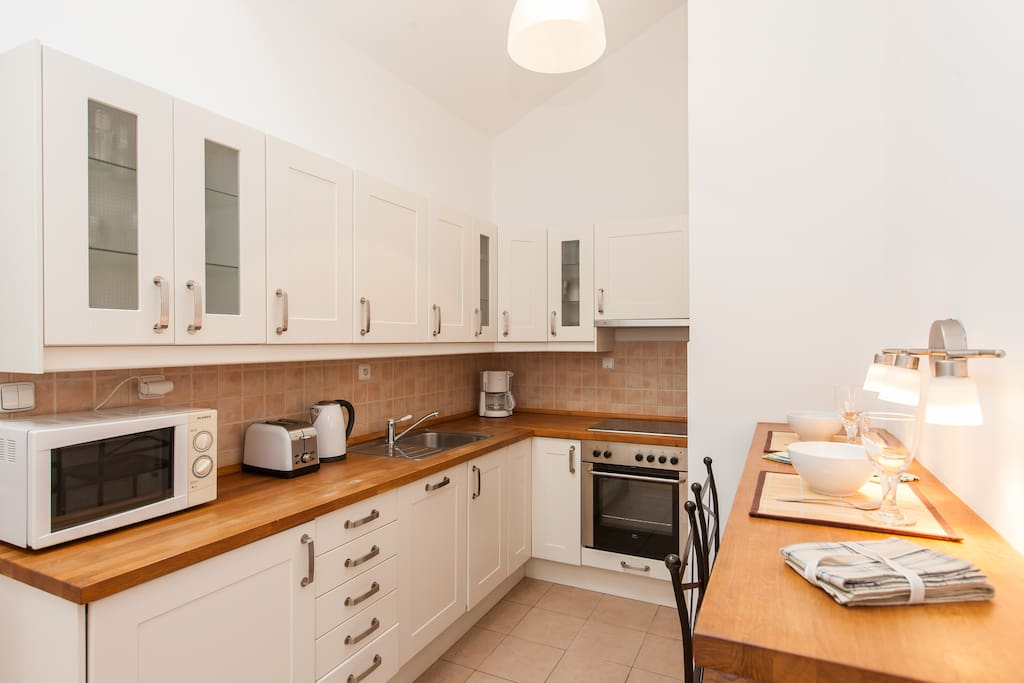Our modern kitchen with dishwasher included.