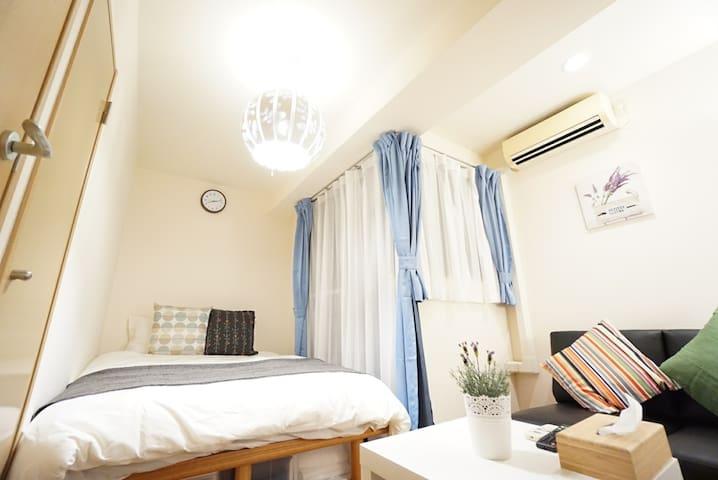 Near Namba sta, 2 rooms, 2bath rooms , 8ppl/4253-2