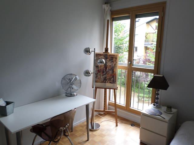 Porte fenêtre sur le jardin