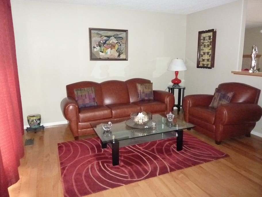 Great front reading, relaxng, or entertaining area