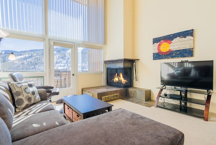 Huge windows let in tons of natural light and afford you amazing views of the mountain