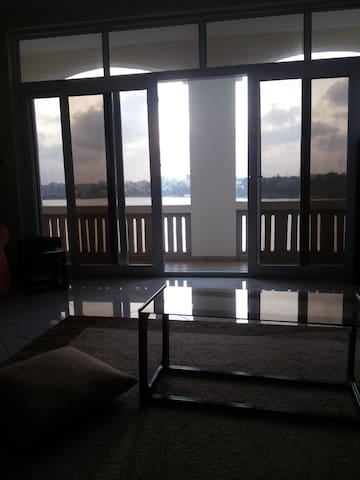 living room to balcony view