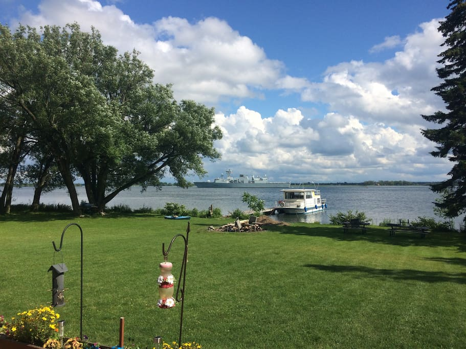 Private Island on St Lawrence river with 350' of pristine waterfront & 60' dock
