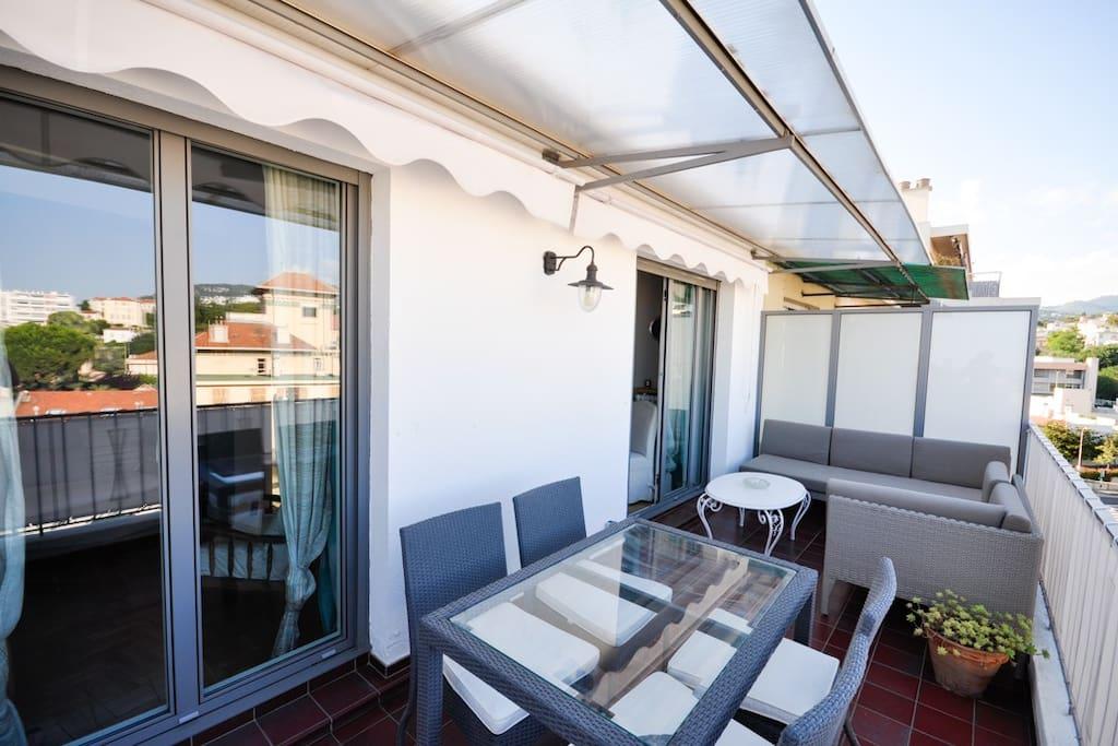 2 pièces terrasse
