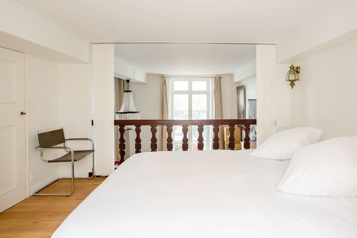 Bedding area on the mezzanine