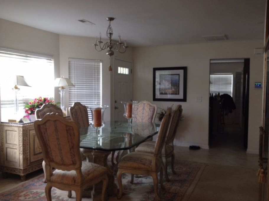 Bright airy dining area