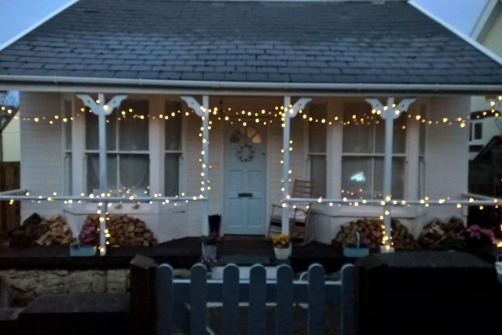 Winter at The Shack-fairy lights and log fires......