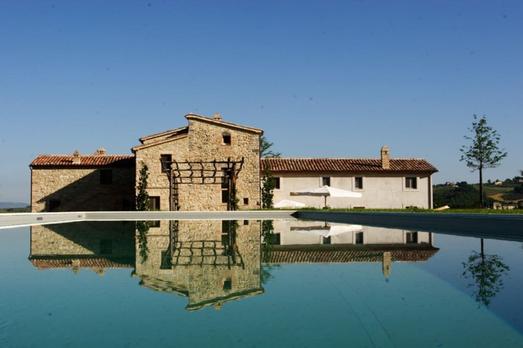 Casarciccia and the swimmng pool