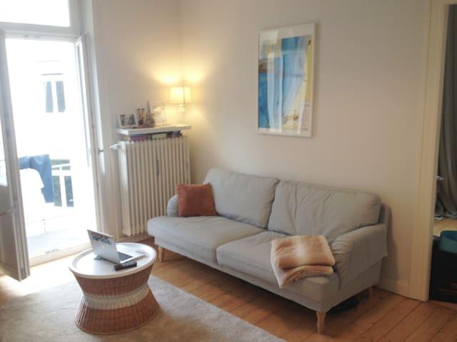 Stilvolle 2-Zi Altbauwohnung in TOP Lage, WLAN - Wiesbaden - Apartment