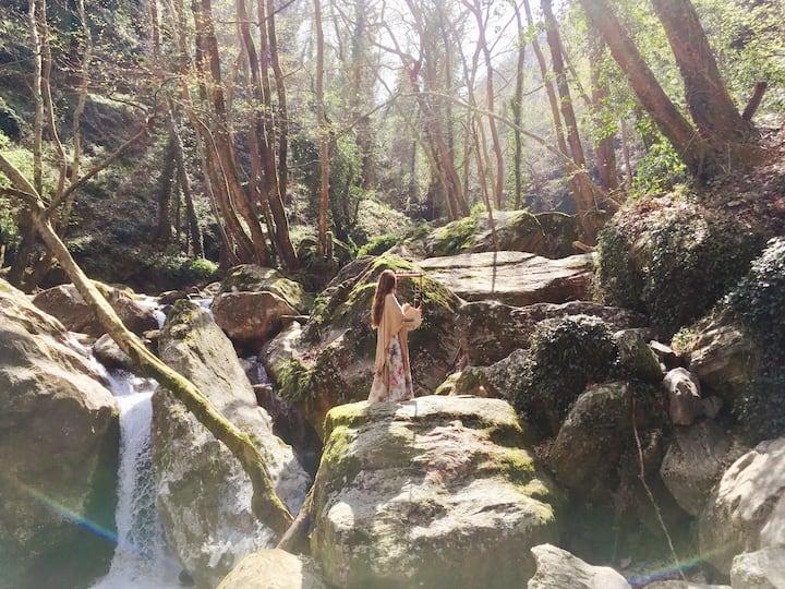 Meditating on the rocks
