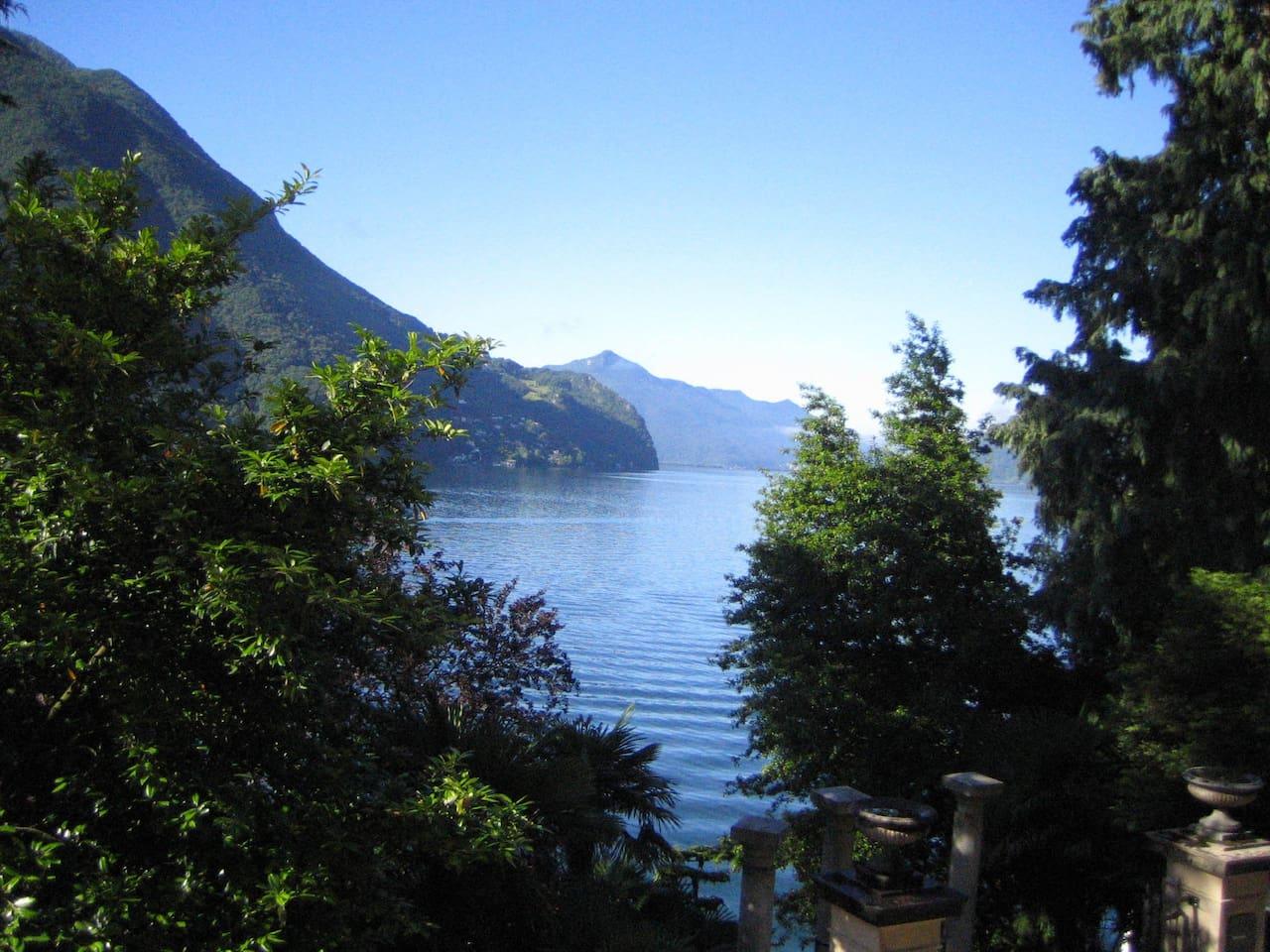 Blick auf Lago di Lugano