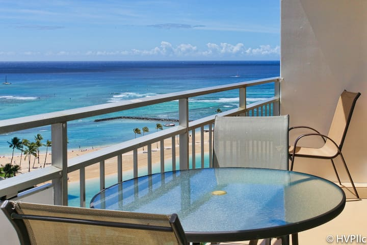 OCEAN, LAGOON VIEWS! STEPS TO WAIKIKI BCH IH 1636