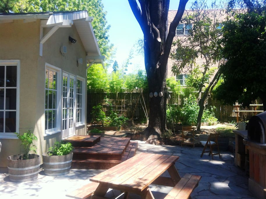 Kitchen patio and hangout area.