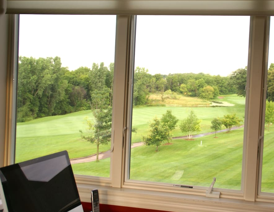 View from inside th sunroom looking down on the 11th.