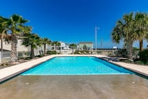 Community amenities include an expansive pool.