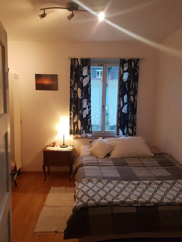 Room with double bed, Basel