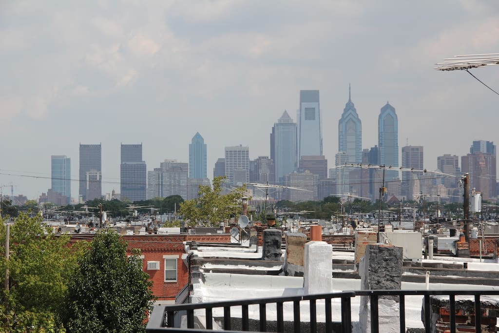View of Center City off master balcony