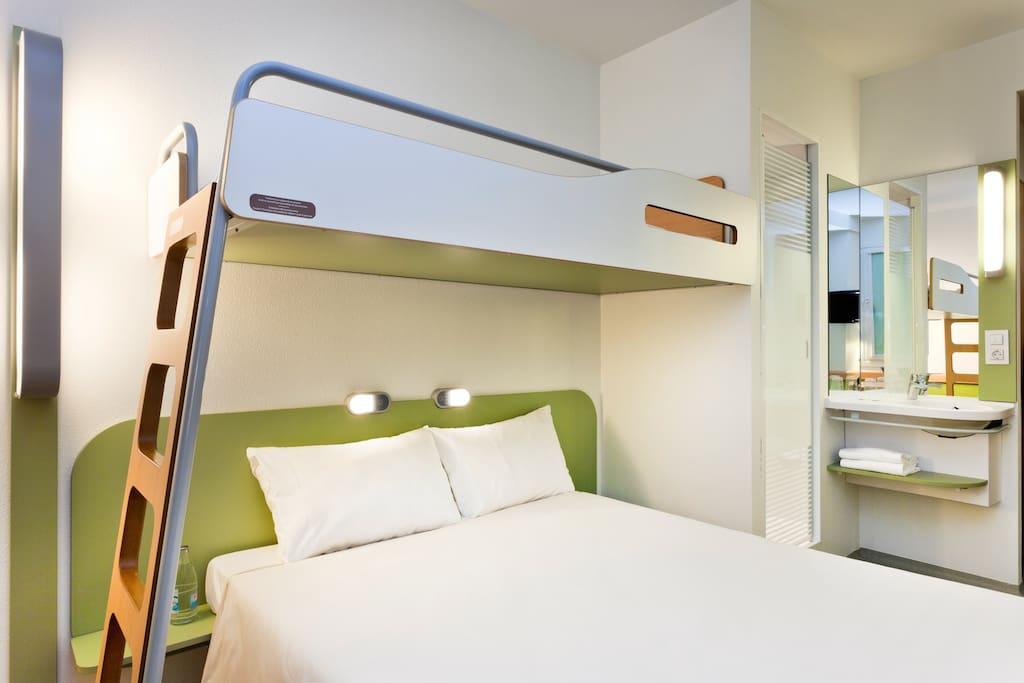 Chambre Cocoon Ibis Budget jusqu'à 3 personnes Hotels