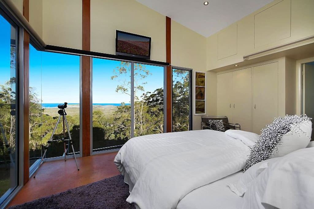 Check the surf on the famous Crezzo Point from your bed