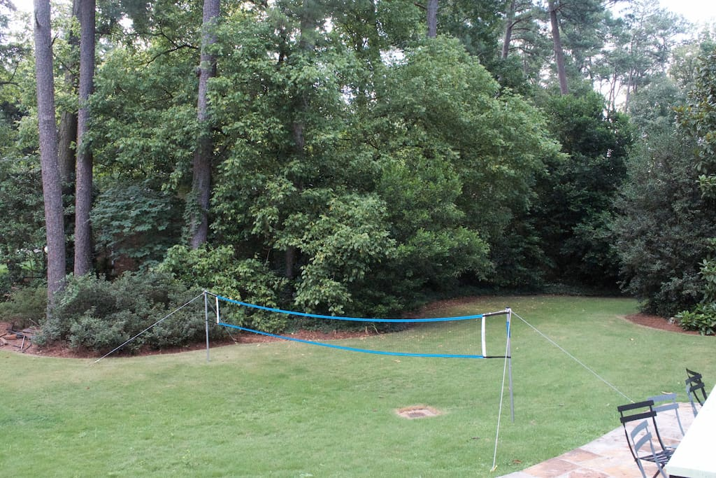 Badminton Court in Backyard
